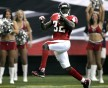 Falcons Norwood high steps into the end zone for a touchdown at their NFL football game against the Saints in Atlanta